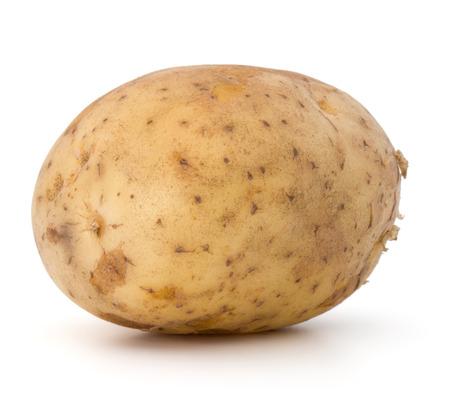 russet: new potato tuber isolated on white background cutout