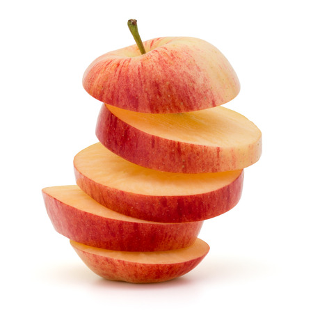 coherent: Red sliced apple isolated on white background cutout