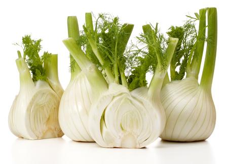 Fresh fennel bulb isolated on white background close up Standard-Bild