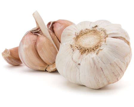 spiciness: Garlic bulb isolated on white background cutout Stock Photo