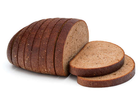Fresh sliced rye bread loaf isolated on white background cutout Stock Photo