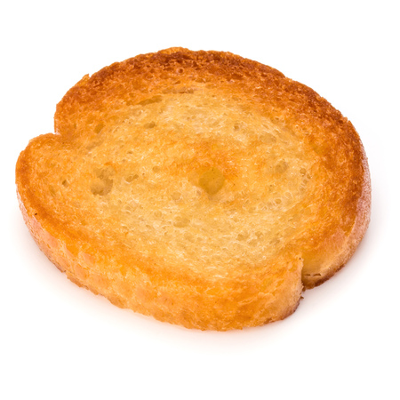 crusty: Crusty bread toast slice isolated on white background