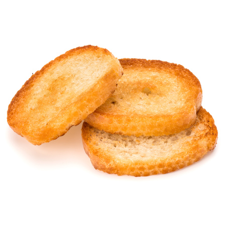 crusty: crusty bread toast slices isolated on white background cutout