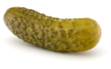 pickled or marinated  cucumber isolated on white background cutout Stock Photo
