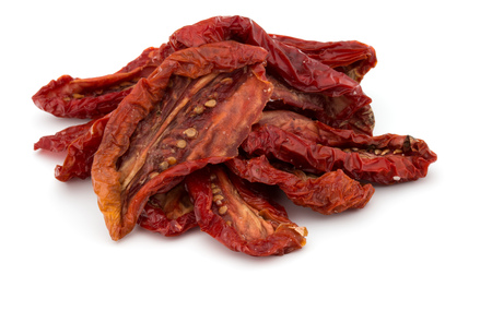 Dried tomatoes isolated on white background cutout Zdjęcie Seryjne