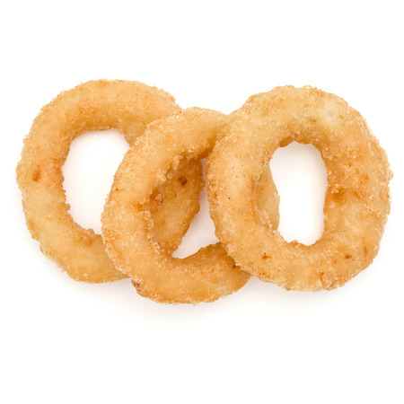 Crispy deep fried onion or Calamari ring isolated on white background Reklamní fotografie - 83771371
