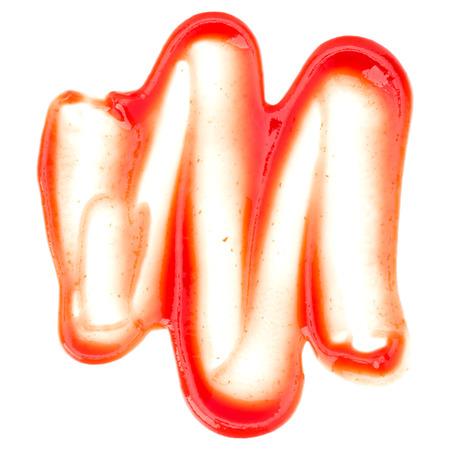 토마토 소스, 흰색 배경에 고립 케첩