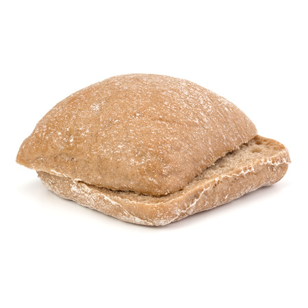 sliced Ciabatta bread isolated on white background cut out Stock Photo
