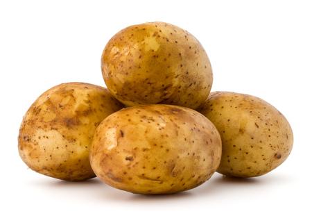 흰 배경에 고립 된 새로운 감자 결절 컷 아웃