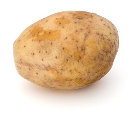 russet potato: new potato tuber isolated on white background cutout