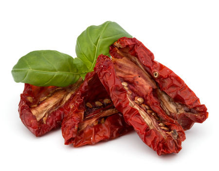 Dried tomatoes isolated on white background cutout 스톡 콘텐츠