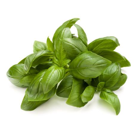 Doux basilic herbes tas tas isolé sur fond blanc Banque d'images - 86314400
