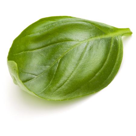 Doux basilic herbes feuilles isolé sur fond blanc closeup Banque d'images - 86314403