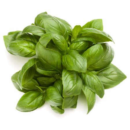 Doux basilic herbes tas tas isolé sur fond blanc Banque d'images - 86314461
