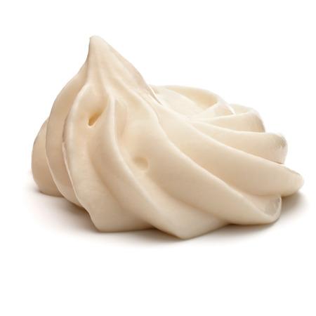 Majonäse Wirbel isoliert auf weißem Hintergrund Ausschnitt