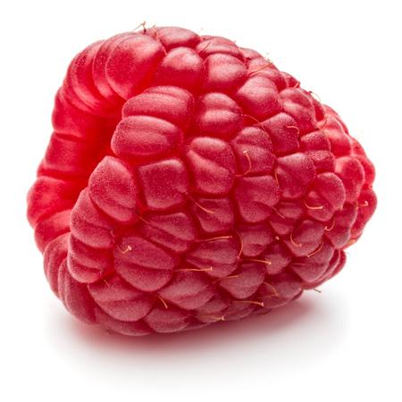ripe raspberry isolated on white background close up
