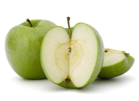 segmento: Green sliced apple isolated on white background cutout