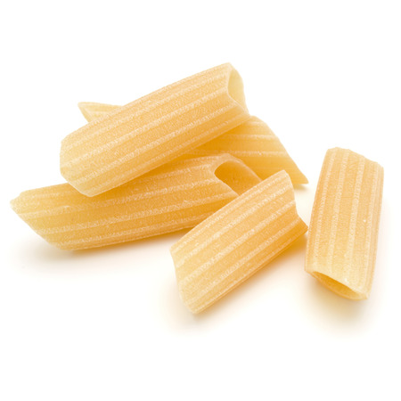 Italian pasta isolated on white background. Pennoni. Penne rigate. Reklamní fotografie