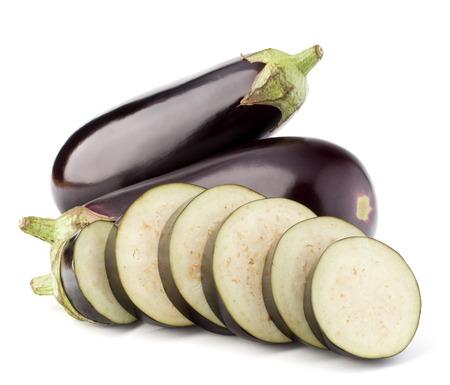 Eggplant or aubergine vegetable isolated on white background cutout Stok Fotoğraf