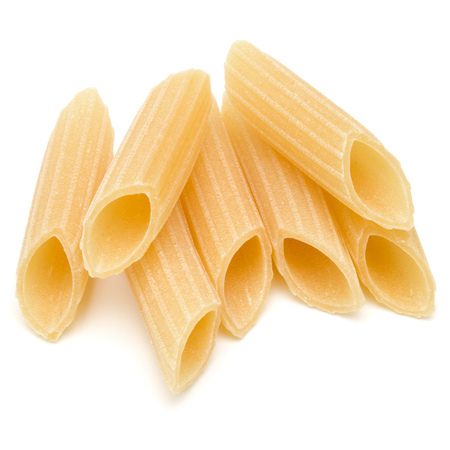 Italian pasta isolated on white background. Pennoni. Penne rigate. Reklamní fotografie