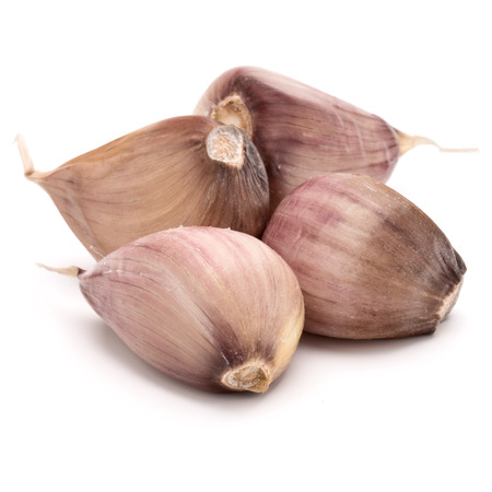 garlic cloves isolated on white background cutout