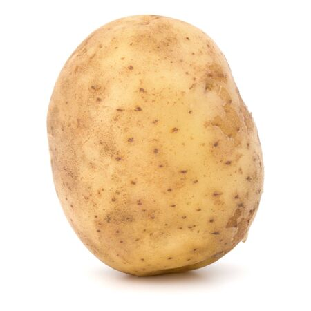 nowa bulwa ziemniaka na białym tle wyłącznik