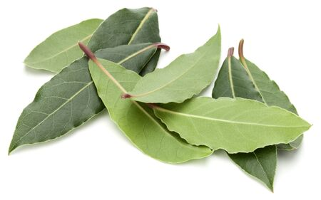 Aromatic bay leaves isolated on white background cutout Stock fotó