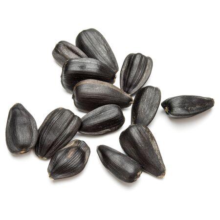 Sunflower seeds  isolated on white background close up Banco de Imagens - 130163813
