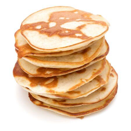 Pancakes  stack on white background 版權商用圖片 - 130163908