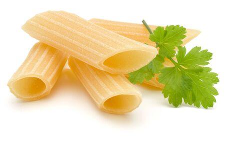 Italian pasta isolated on white background. Pennoni. Penne rigate. Stock fotó