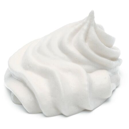Whipped cream swirl  isolated on white background cutout 版權商用圖片
