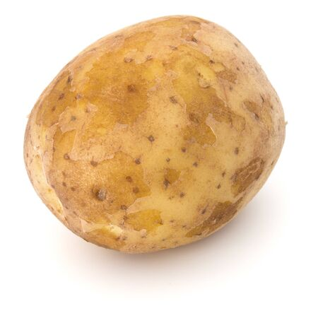 new potato tuber isolated on white background cutout