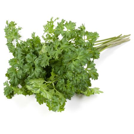 parsley leaves bunch isolated on white background cutout Stockfoto