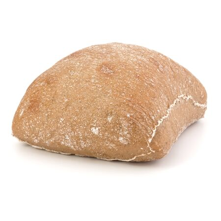 Ciabatta bread isolated on white background cut out Banco de Imagens - 130164301