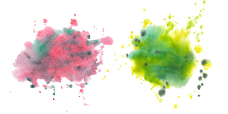 Stains, blots, splashes. Set of  stains Stock Photo