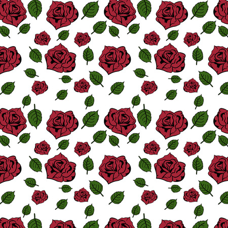 Rose seamless pattern flowers for background design.