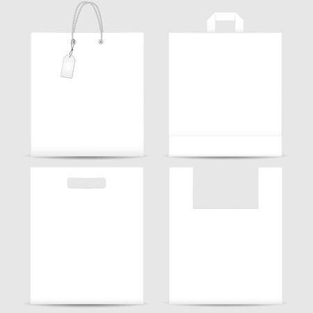 grocery store series: Set of shopping bags