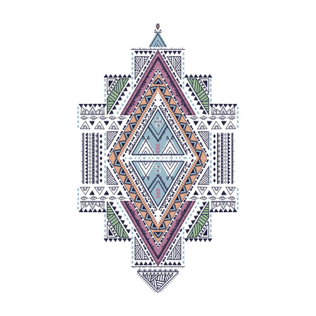 Ethnic geometrical pattern, tribal print, for greeting cards, t-shirts, business cards