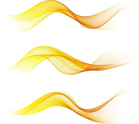 Die Vektorillustration enthält das Bild der abstrakten Farbenwellen