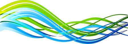 cg: The vector illustration contains the image of Abstract color waves Illustration
