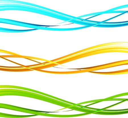 The vector illustration contains the image of Abstract wavy background