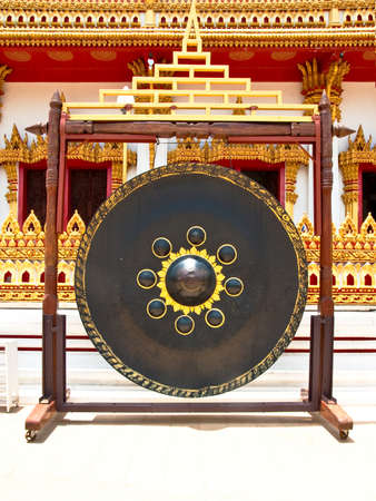 gong in thai temple  photo