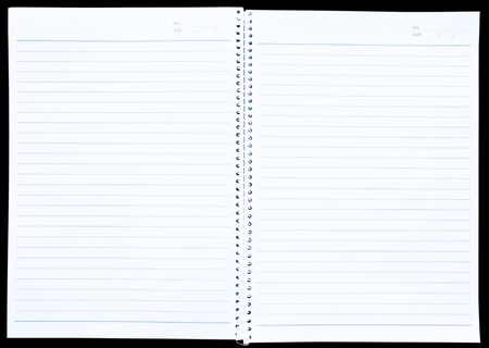 lined: white paper of notebook