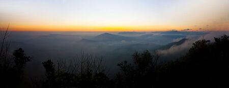 Sunset panorama view of Phu rua mountain,Thailand photo
