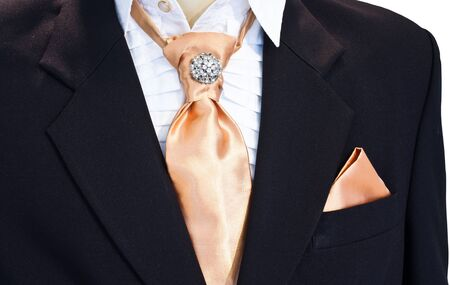 Men wedding suit on white background Stock Photo