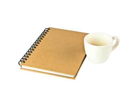 paper notebook front cover and cap isolated photo