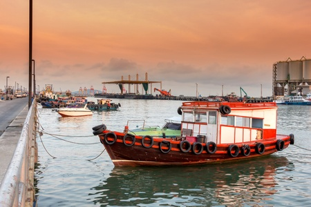 Boats for hire in sea,Chonburi in thailand photo
