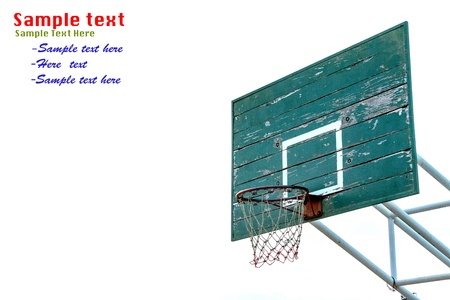 Basketball Hoop isolated on white background photo