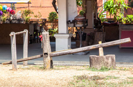 rice mill: motar and pestle for rice mill,thai style
