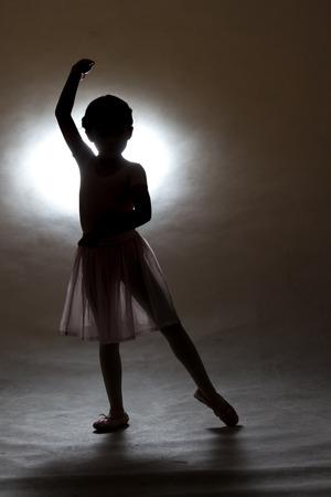 ballet silhouette: Little girl ballet Silhouette style, in Thailand